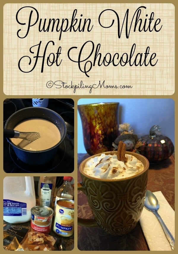 Pumpkin White Hot Chocolate is a delicious beverage that you must try this Fall!
