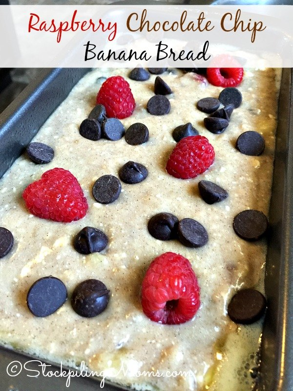 Raspberry Chocolate Chip Banana Bread is the BEST banana bread EVER!   Be sure to try it soon.
