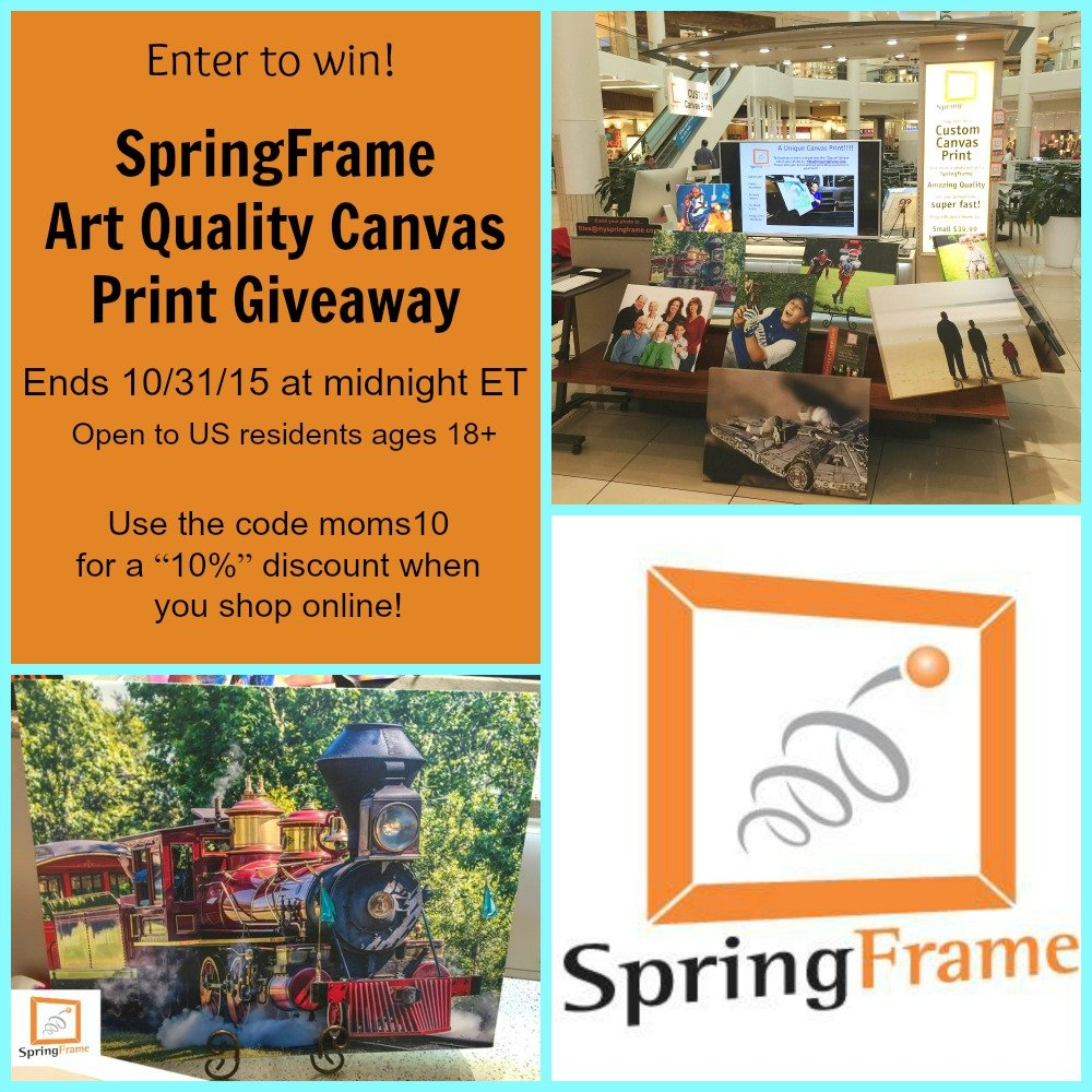 SpringFrame Canvas Print Giveaway
