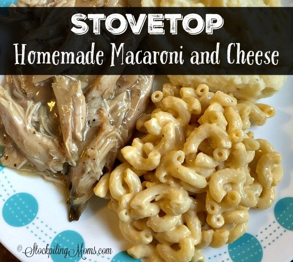 Stovetop Homemade Macaroni and Cheese recipe is so easy to prepare in less than 15 minutes!