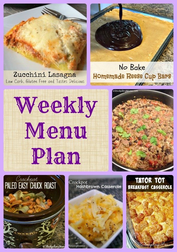 Enjoy our Weekly Menu Plan that helps save time and money in the kitchen!
