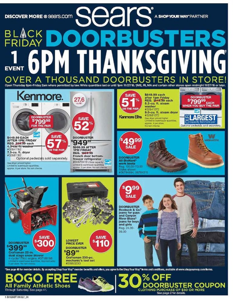 Sears Black Friday Ad 2015