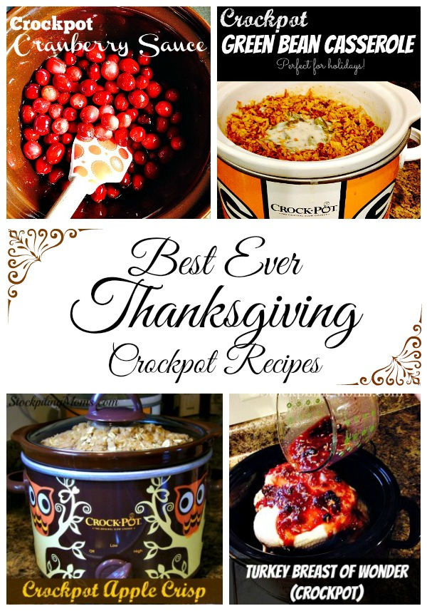 Best Ever Thanksgiving Crockpot Recipes to help save you time in the kitchen on the holiday!