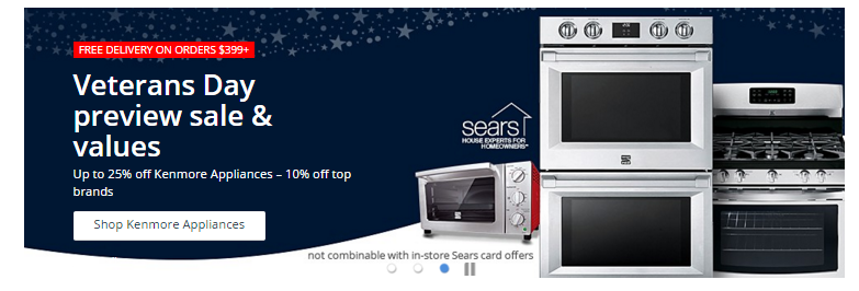 Veterans Day Sale at Sears