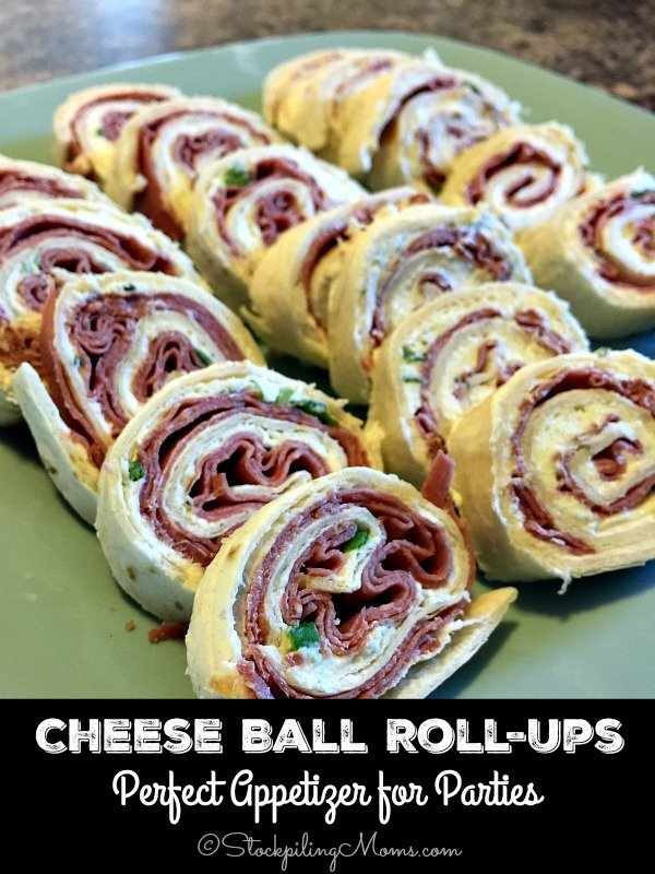 Cheese Ball Roll-Ups are the easiest appetizer you will ever make with only 5 ingredients and you can make it in as little as 5 minutes!