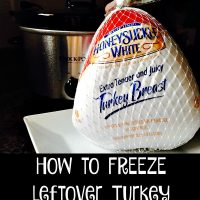 How to FREEZE leftover Turkey