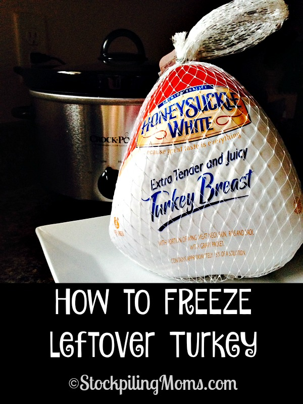 How to FREEZE leftover Turkey from Thanksgiving dinner! This is a great way to save money and stretch your budget!