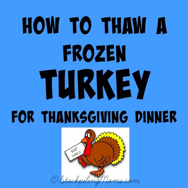 How to Thaw a Frozen Turkey for Thanksgiving Dinner