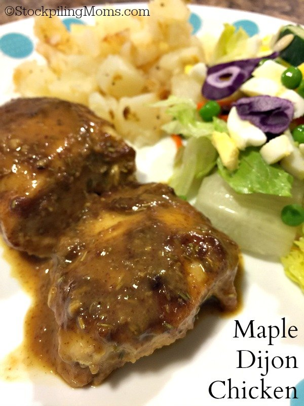 Maple Dijon Chicken recipe is so easy to make with only 6 ingredients!