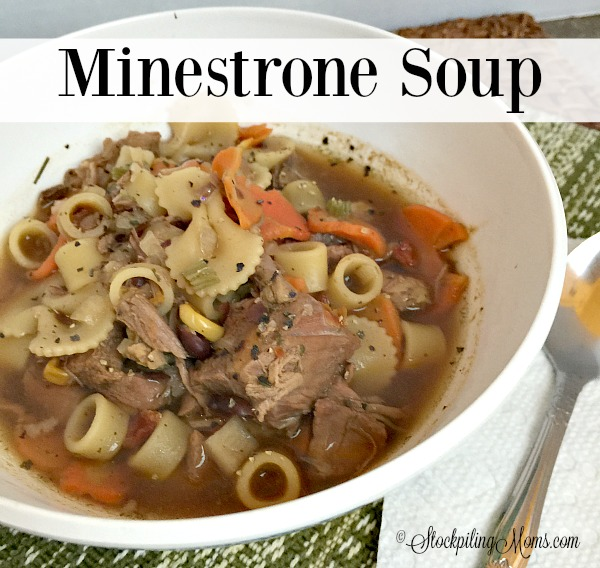Minestrone Soup is a delicious, flavorful homemade recipe perfect for cooler weather!