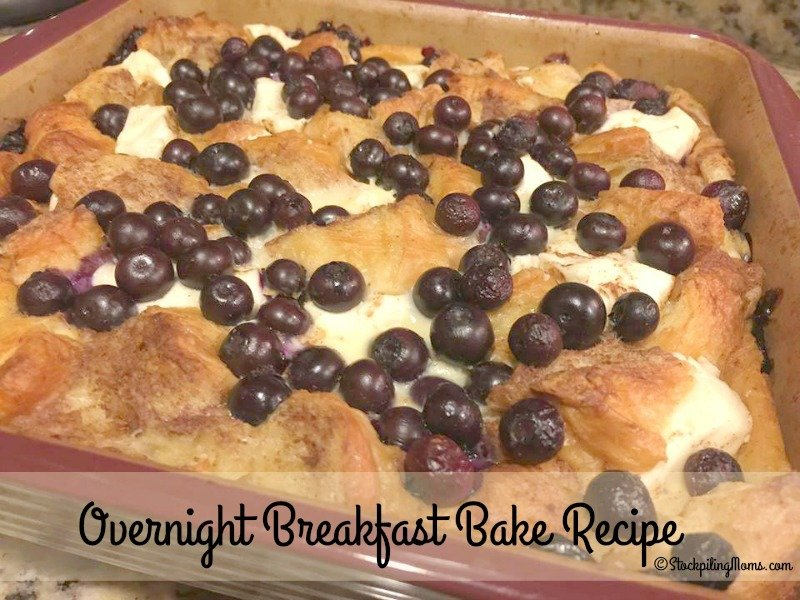 This Overnight Breakfast Bake Recipe is so delicious! When I make this for my family they enjoy every bite!