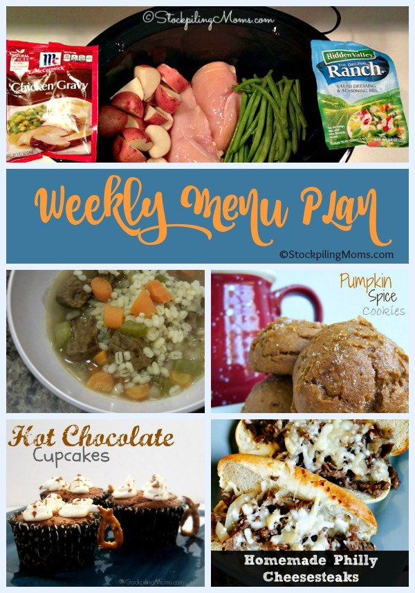 Easy Weekly Menu Plan to help you save time and money!