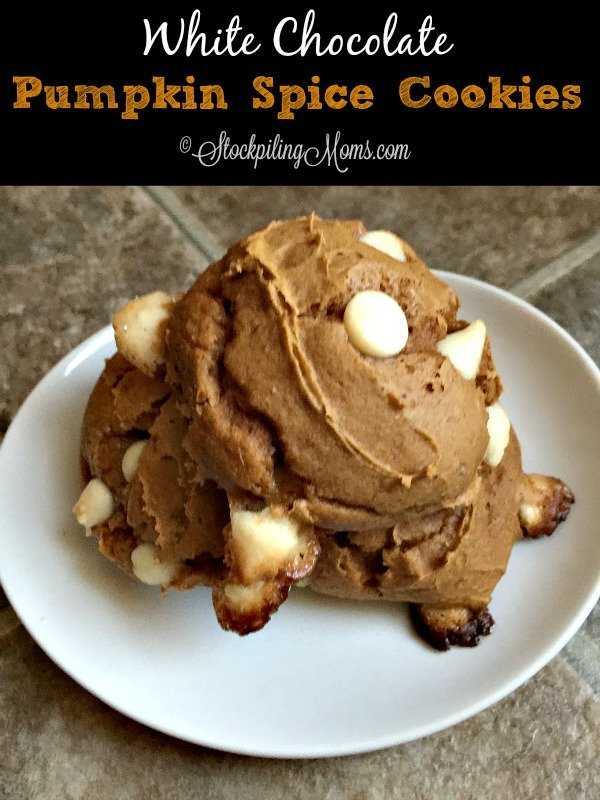 White Chocolate Pumpkin Spice Cookies recipe only has 3 ingredients and is only 3 WW points!