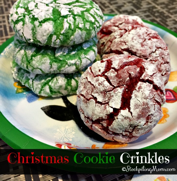 Christmas Cookie Crinkles recipe is perfect for Christmas time!