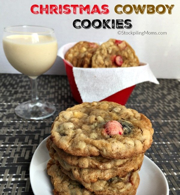 Christmas Cowboy Cookies recipe is scrumptious, making them perfect for your Christmas holiday baking!