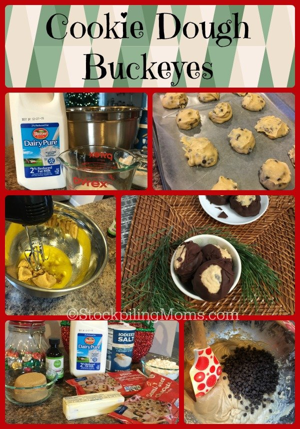 Cookie Dough Buckeyes recipe is deliciously good! Kids and adults will love this dessert treat. Be sure to add it to your Christmas baking list, you will not be disappointed!