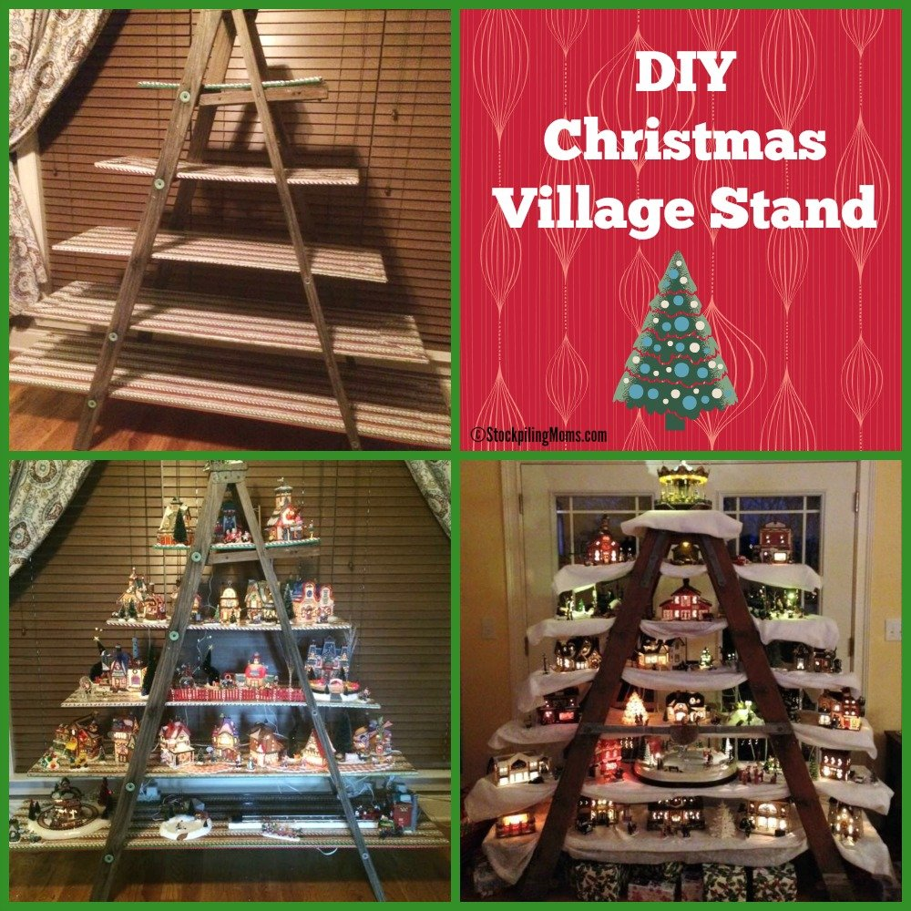 How To Build a DIY Christmas Village Stand
