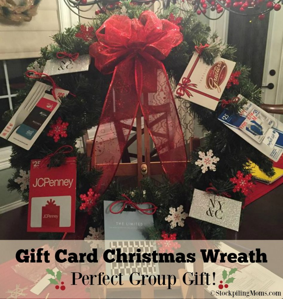 Gift Card Christmas Wreath