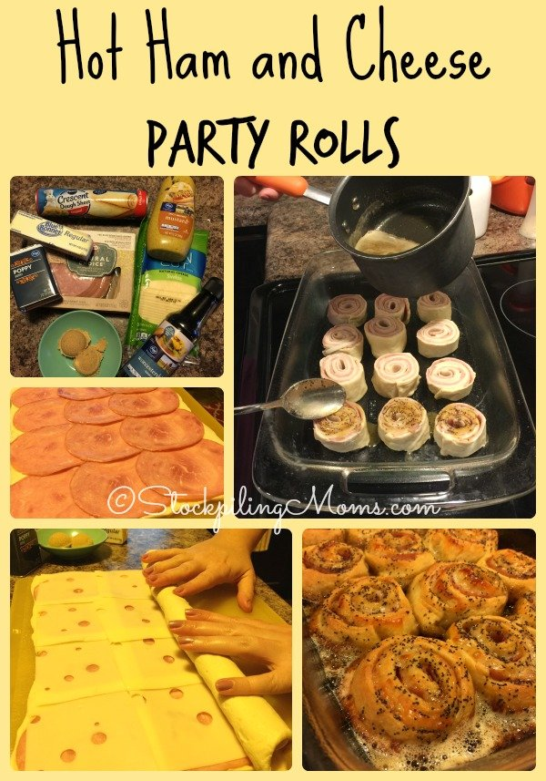 Hot Ham and Cheese Party Rolls are the perfect appetizer for a New Year's Eve party!