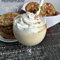 Old Fashioned Homemade Egg Nog
