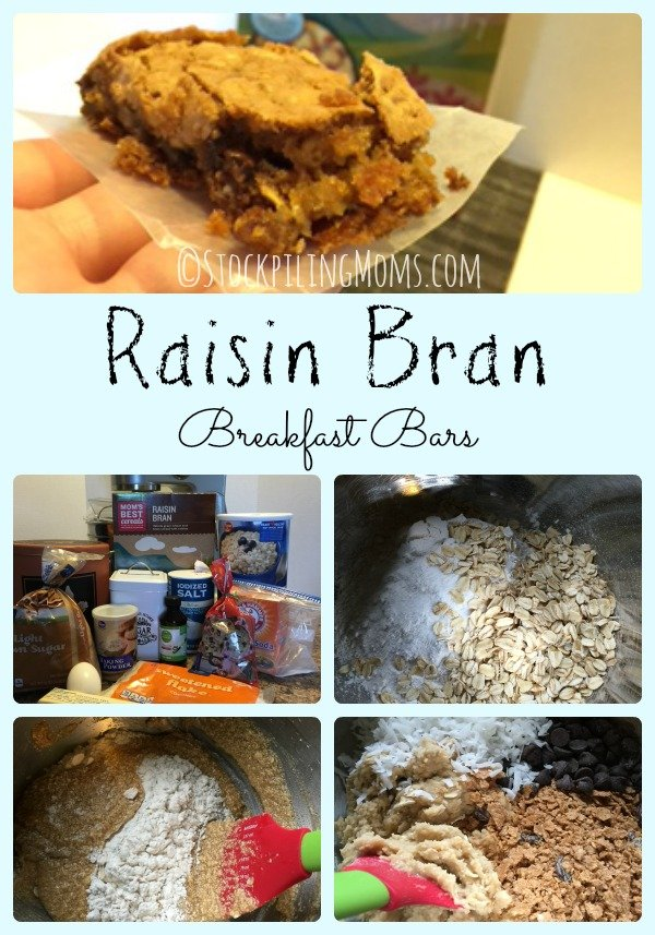 Raisin Bran Breakfast Bars are a delicious and healthy way to start your morning!