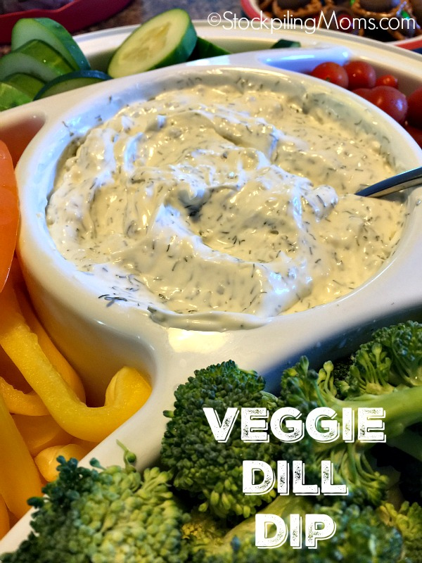 Veggie Dill Dip recipe is so easy to prepare in less than 5 minutes!