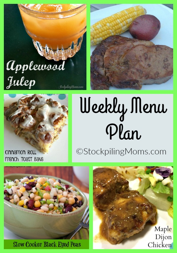 Weekly Menu Plan to help you save time and money this week on your dinners!
