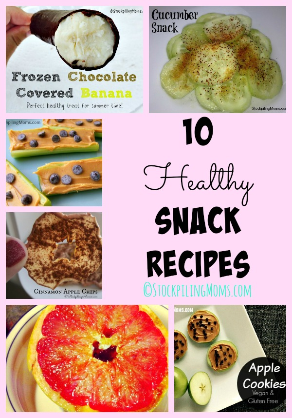 10 Healthy Snack Recipes to help curb those afternoon cravings!