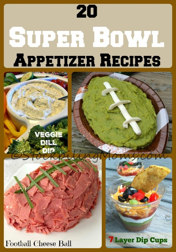 20 Super Bowl Appetizer Recipes that are perfect to serve for a Super Bowl 50 party!