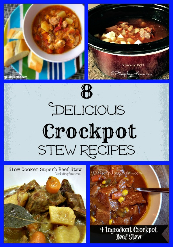 8 Delicious Crockpot Stew Recipes that are perfect on a cold winter night!