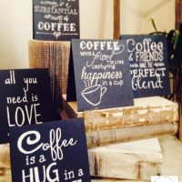 DIY Coffee Inspired Chalkboard Signs