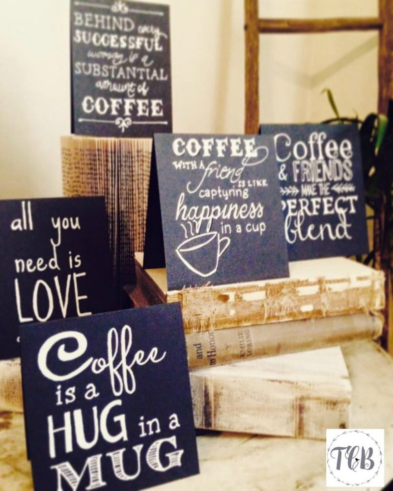 DIY Coffee Inspired Chalkboard Signs - 2