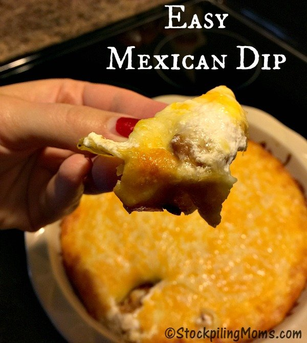 This appetizer for Easy Mexican Dip recipe has only 4 ingredients and tastes amazing!