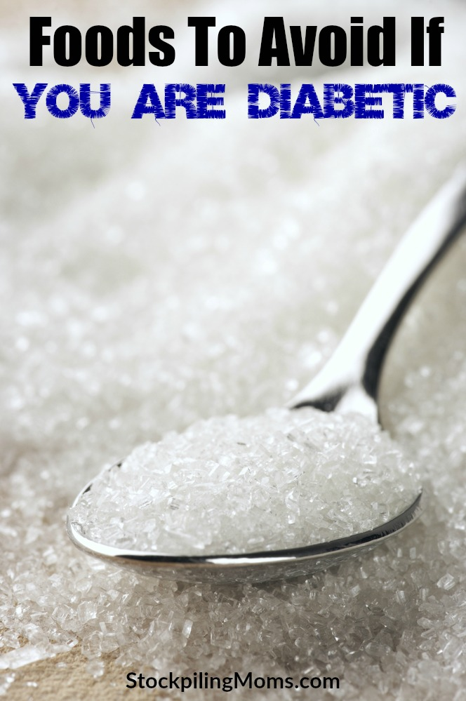 Don't miss this great post with all the foods to avoid if you are diabetic! Great information so you can understand your health better!