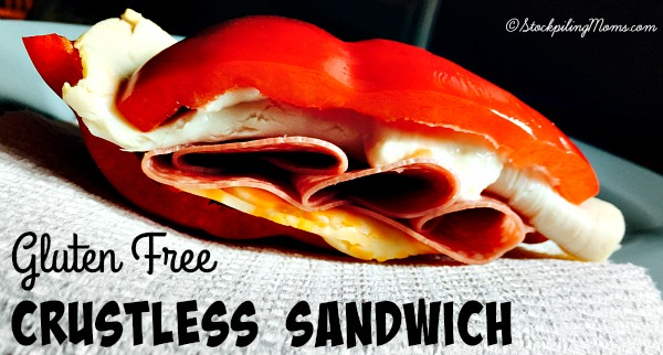 Gluten Free Crustless Sandwich is a healthy lunch idea to pack for work or in your children's lunch boxes!