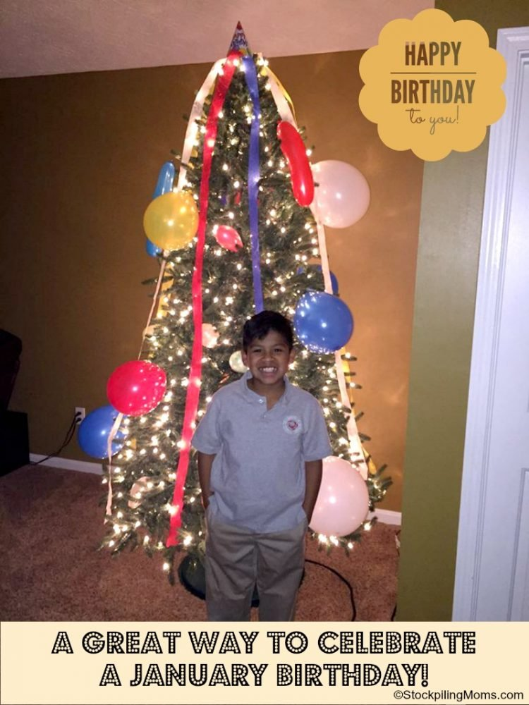 Have a child whose birthday is after Christmas or January Turn your Christmas Tree into a Birthday Tree! I promise you they will LOVE it!