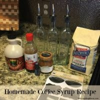Homemade Coffee Syrup Recipe