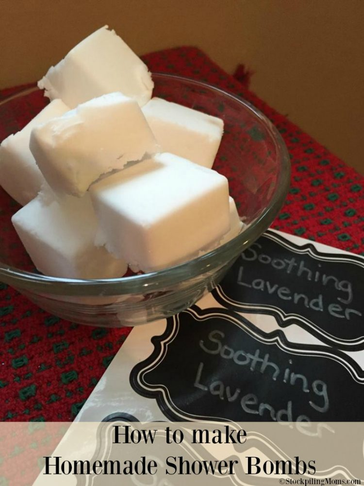 Homemade Shower Bombs are perfect for gift giving and so easy to make!