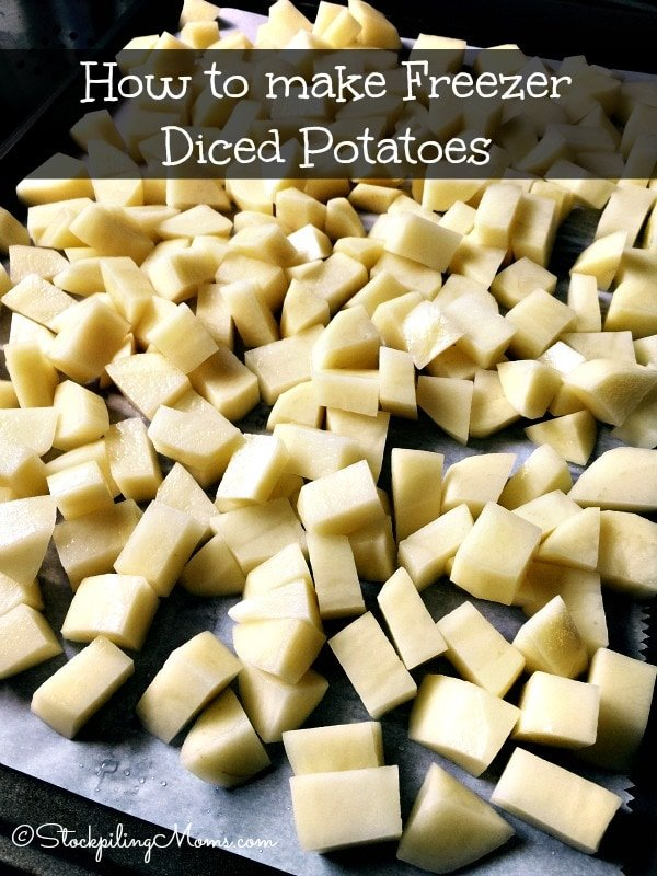How to make Freezer Diced Potatoes to have on hand for recipes! This is a great tip to save you time and money!