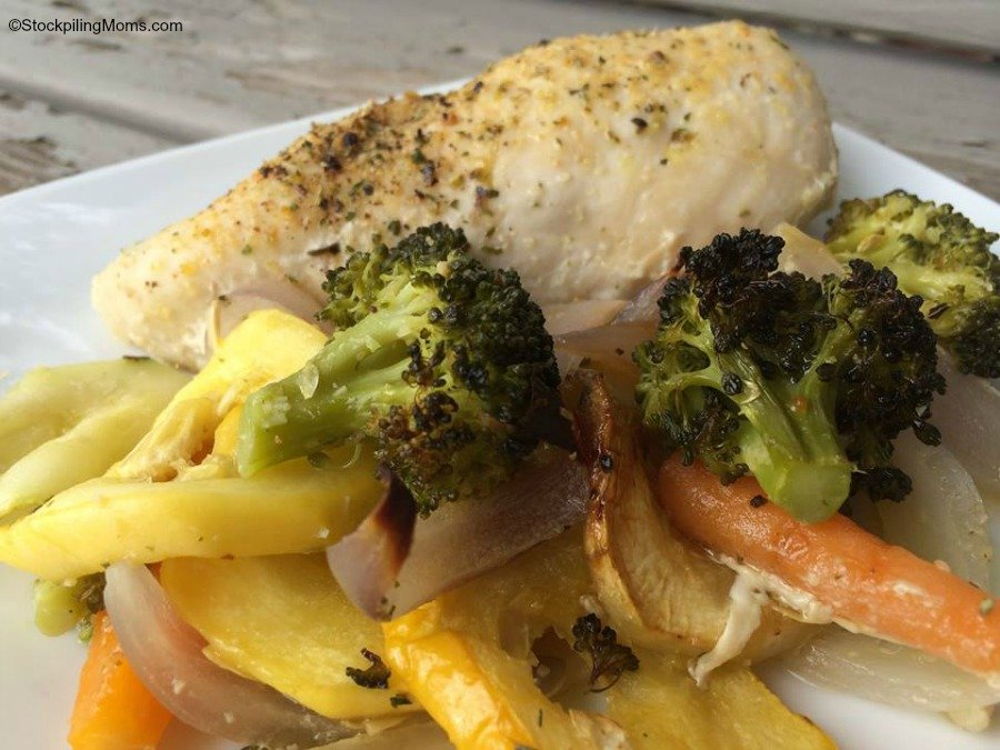 Healthy One Dish Chicken Bake is the perfect meal to make for dinner to prep for a week of low carb lunches.