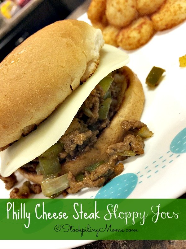 This 30 Minute Meal recipe for Philly Cheese Steak Sloppy Joes tastes amazing!