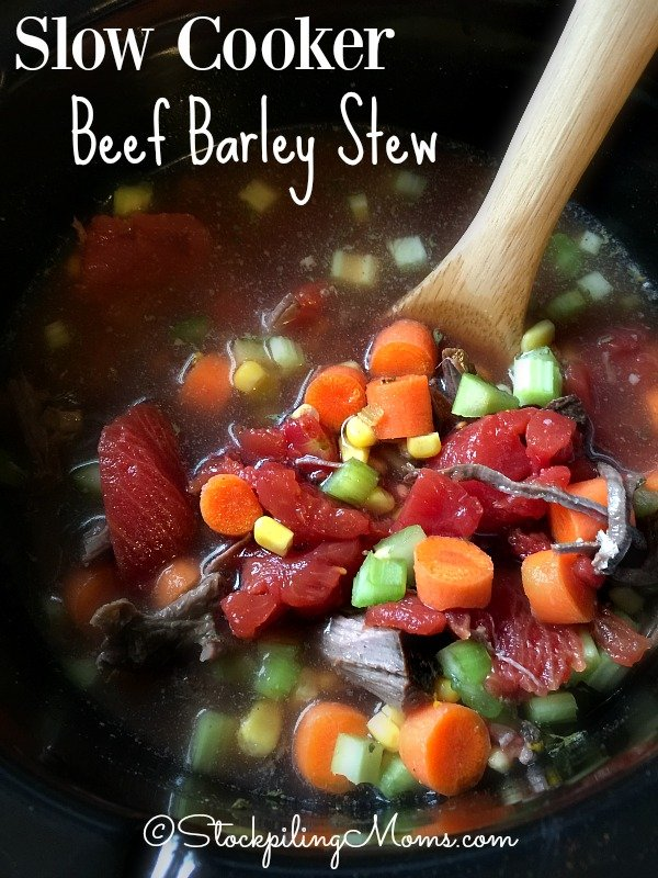 Slow Cooker Beef Barley Stew recipe is full of great flavor and will warm you up on a cold day!