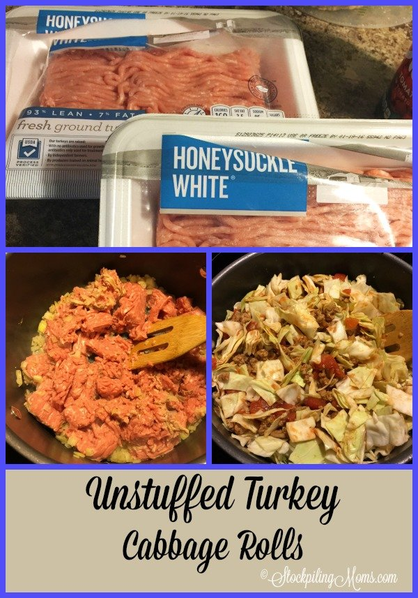 Unstuffed Turkey Cabbage Rolls recipe is healthy, clean eating and delicious!