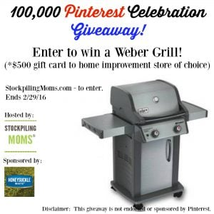 Gas Grill Giveaway – $500 Value!