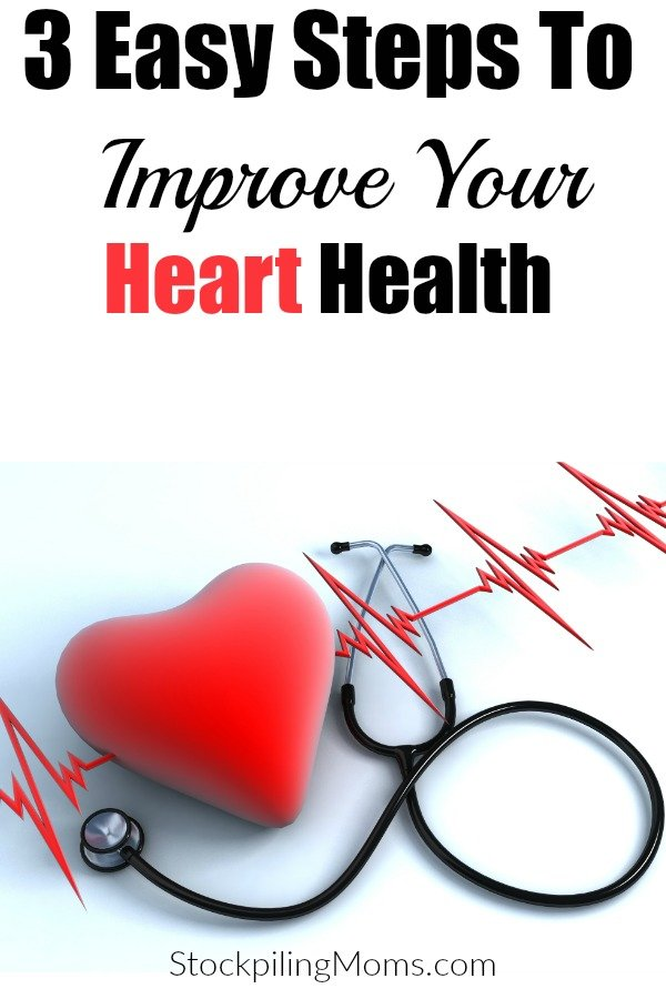 Don't miss out on these 3 Easy Steps To Improve Your Heart Health this year!  Your heart health is vital to overall better health and this makes maintaining much easier!