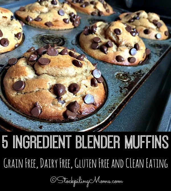 5 Ingredient Blender Muffins is a an easy grain free, dairy free, gluten free and clean eating recipe making it the perfect choice for breakfast or an afternoon snack!