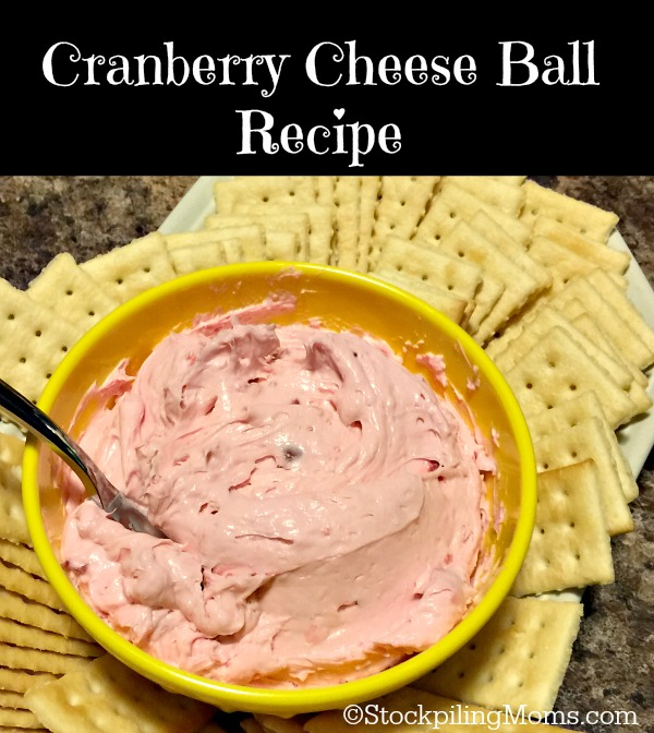 Cranberry Cheese Ball Recipe is such an easy appetizer to prepare and tastes delicious!