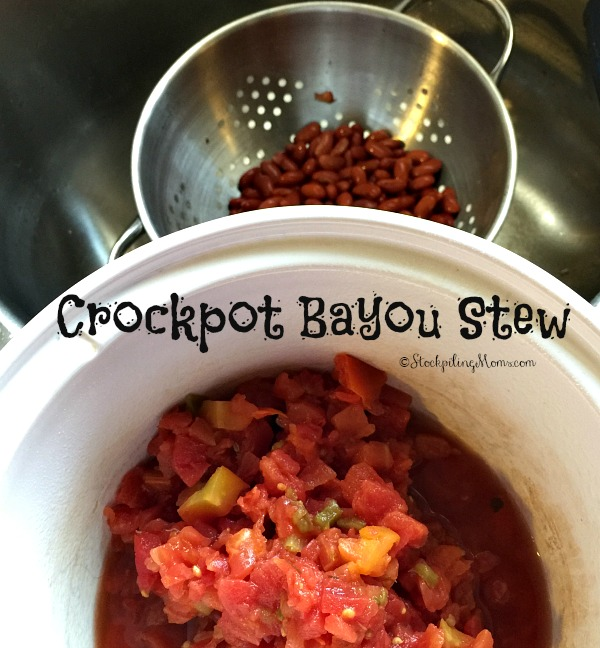 This slow cooker recipe for Crockpot Bayou Stew only has 4 ingredients!