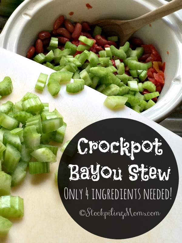 Crockpot Bayou Stew is a delicious slow cooker recipe that only has 4 ingredients!