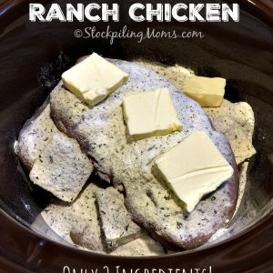 Crockpot Butter Ranch Chicken